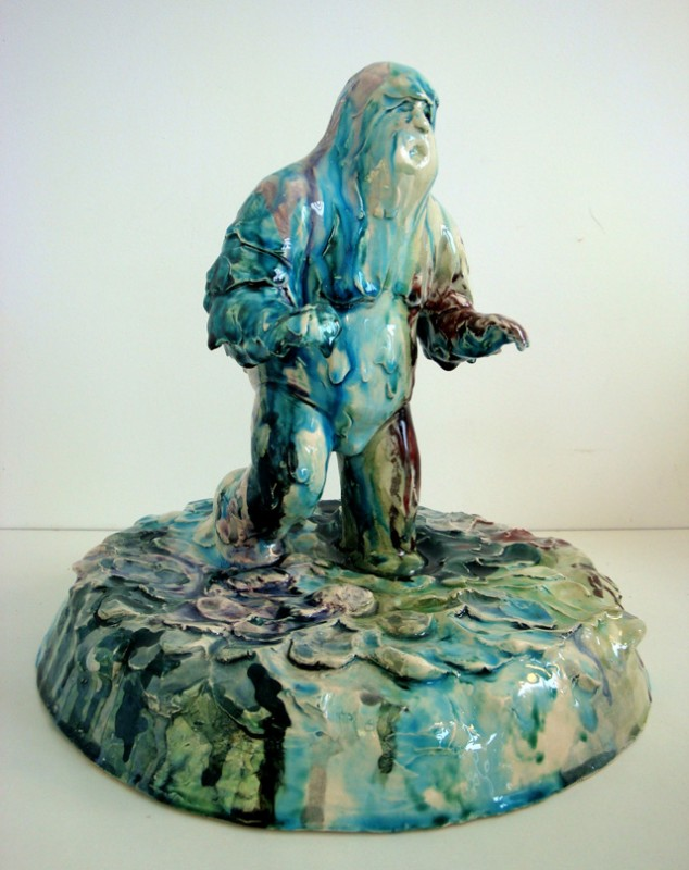 homem de lama revisitado, 2008, faiança policromada, 31x30x30 cm