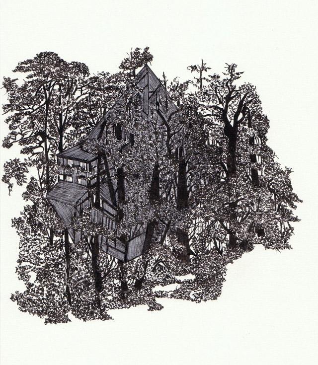 …do subterrâneo, 2009, marcador e lápis de cor sobre papel, 29,5x20x5 cm