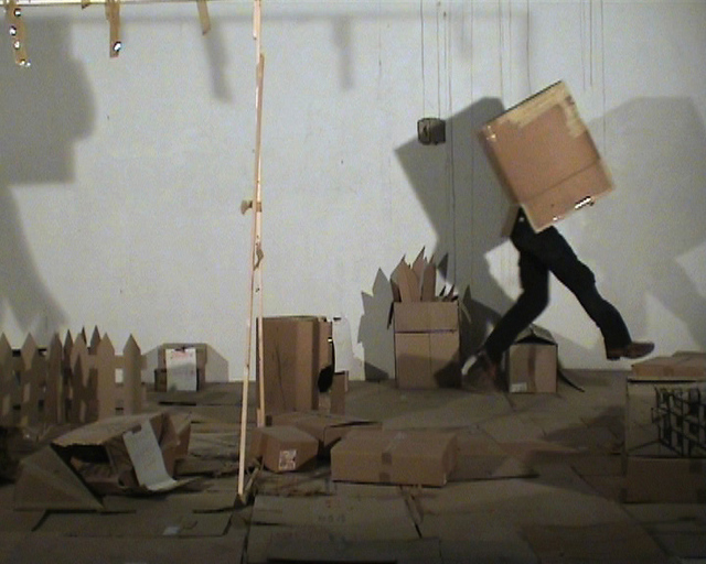 Steve Schepens, 2005, Horror 7, videostill of performance