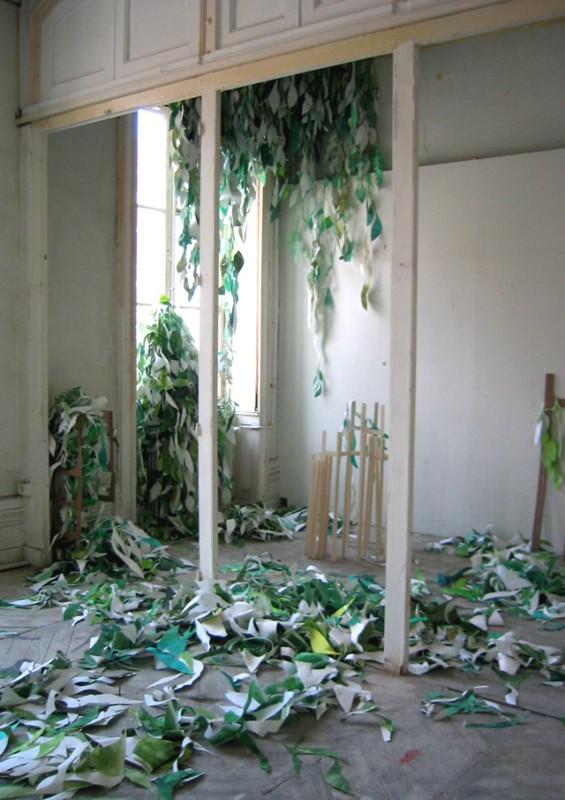 Anne Bourse, Colour filled plantations, 2006, instalação