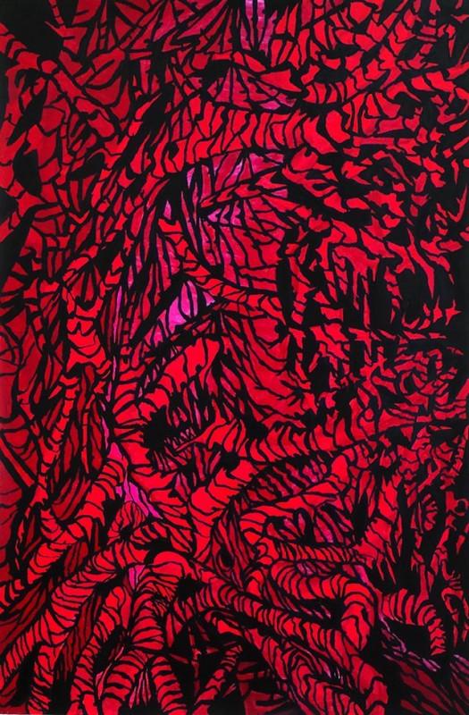 S/Título, 2006, óleo sobre papel, 152x100 cm