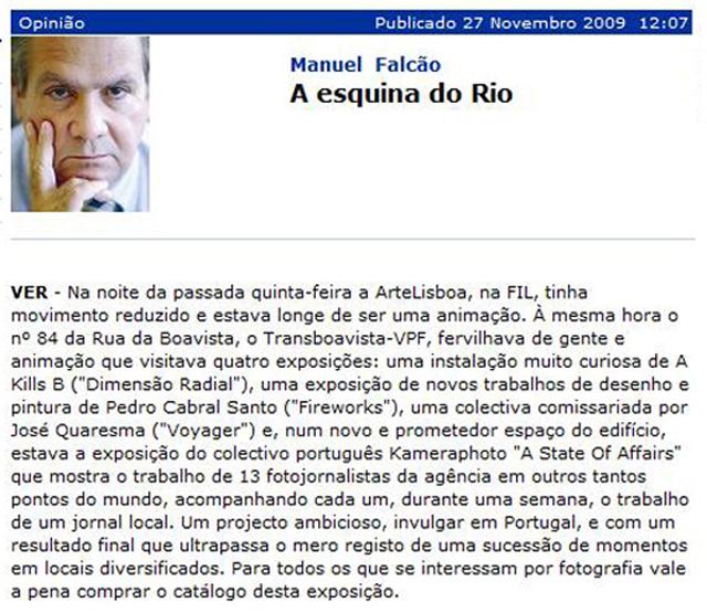 Jornal de Negócios, 27 Novembro 2009