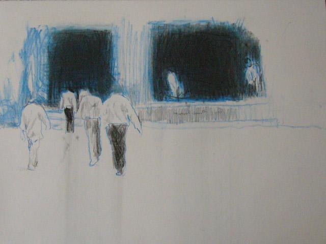 Manuel-Gantes,-Acampamento,-atelier-067,-2010,-carvão-e-grafíte-sobre-papel-Arches,