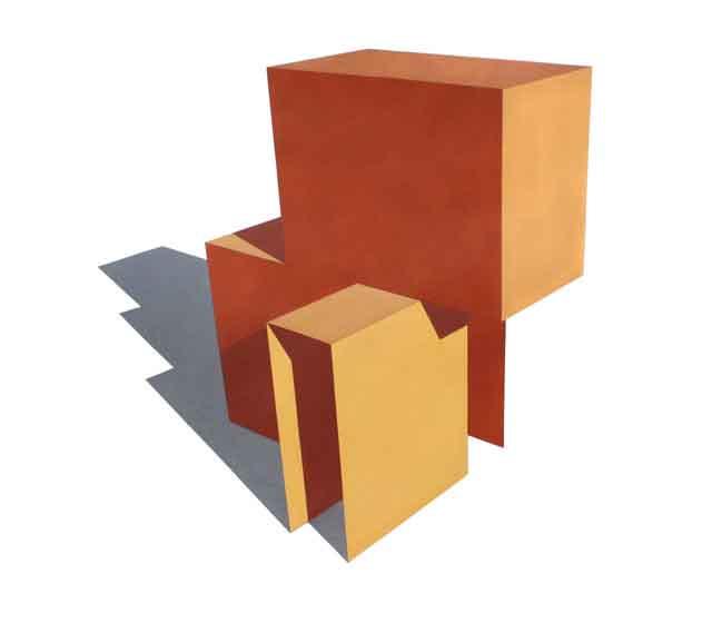 Abrigo-me-#17, 2007, acrílico sobre papel, 90 x 90 cm