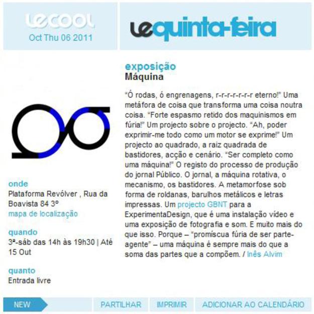 Le Cool, 6 Outubro 11